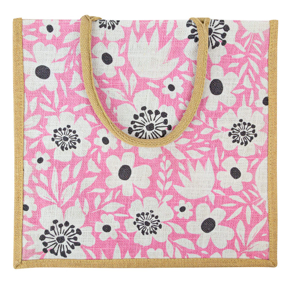 Midsummer Pink Jute Bag