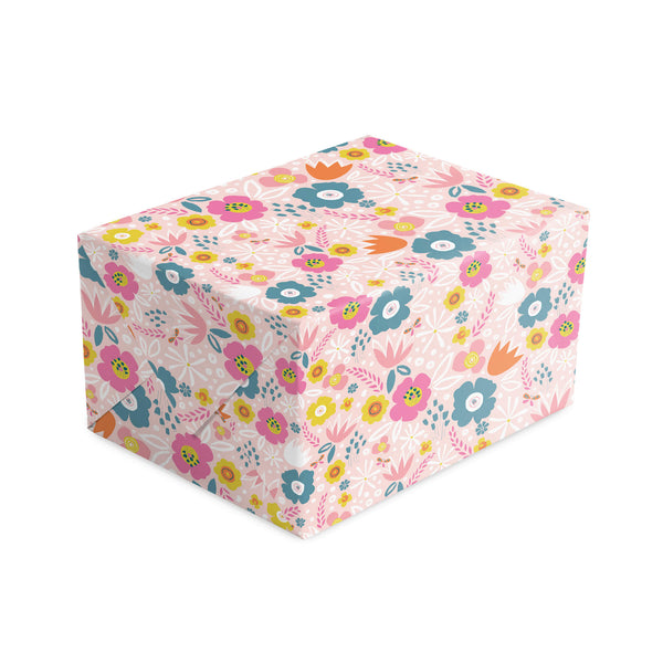 Peach Flowers Wrapping Paper