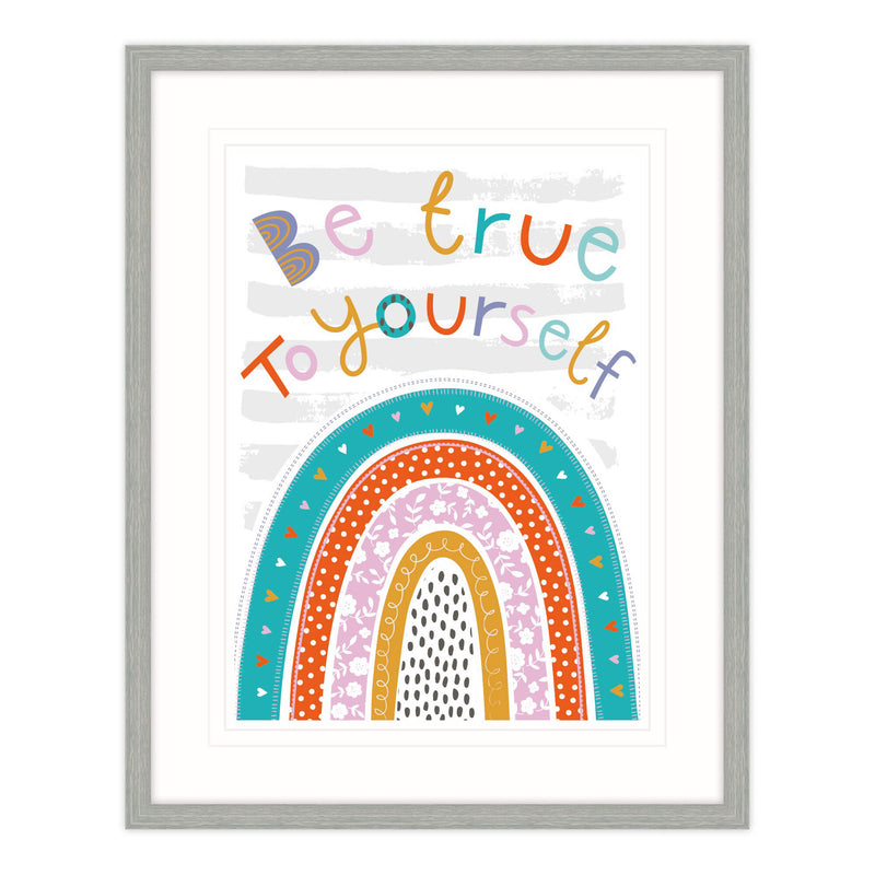 Be True To Yourself Framed Print for Children