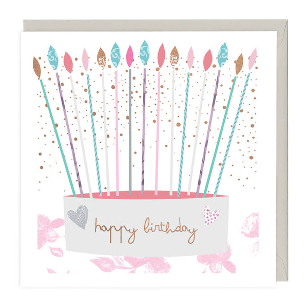 Candles & Cake Happy Birthday Card