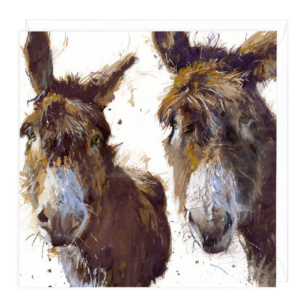 Donkeys Animal Greeting Card