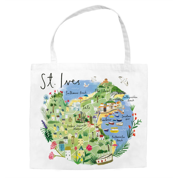 St Ives Map Tote Bag