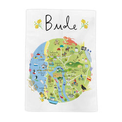 Bude Map Tea Towel
