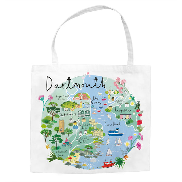 Dartmouth Map Tote Bag