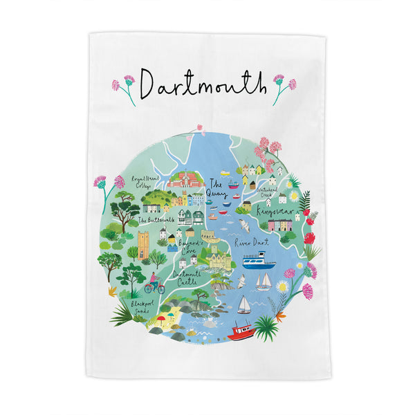 Dartmouth Map Tea Towel