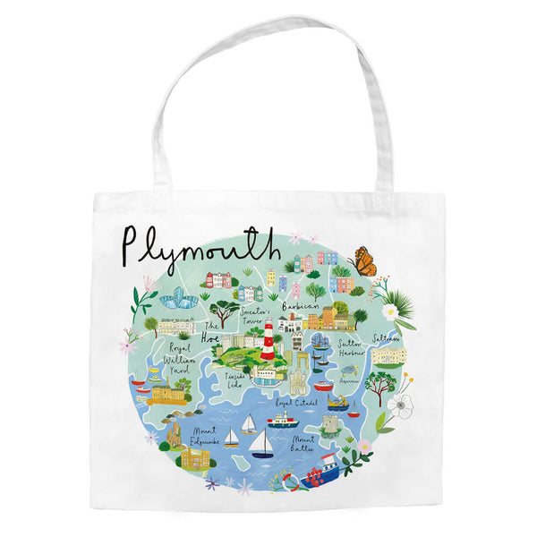 Plymouth Map Tote Bag