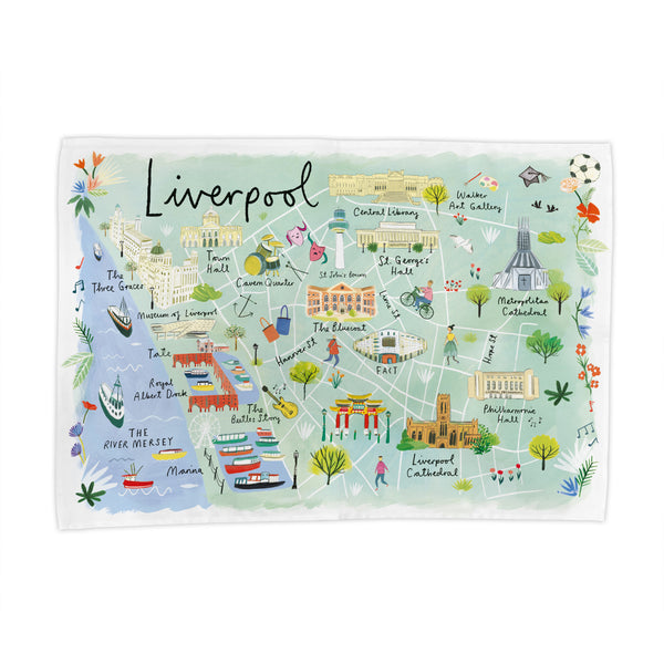 Liverpool Map Tea Towel