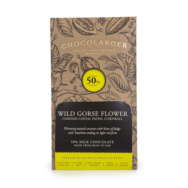 Chocolarder Wild Gorse Flower Chocolate Bar