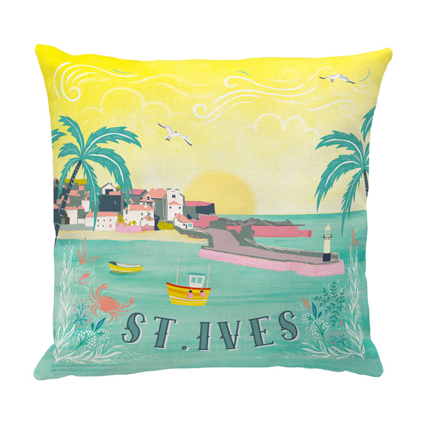 Colourful St Ives Cushion