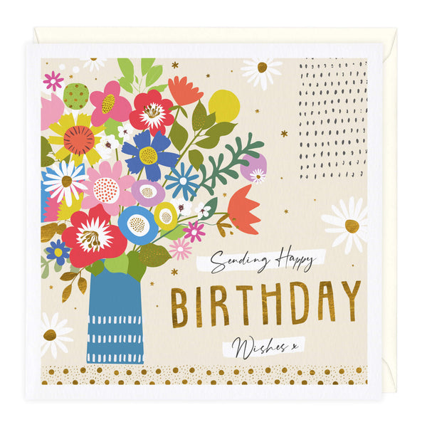 Sending Happy Birthday Wishes Card