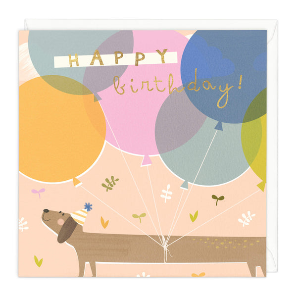 Happy Sausage Dog Birthday Card