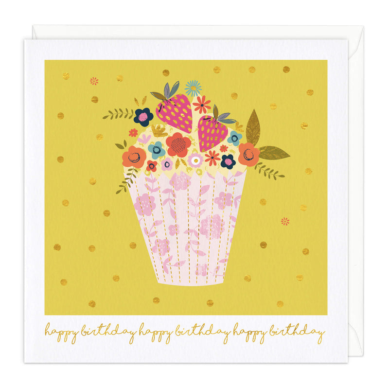 Scrumptious Cupcake Birthday Card