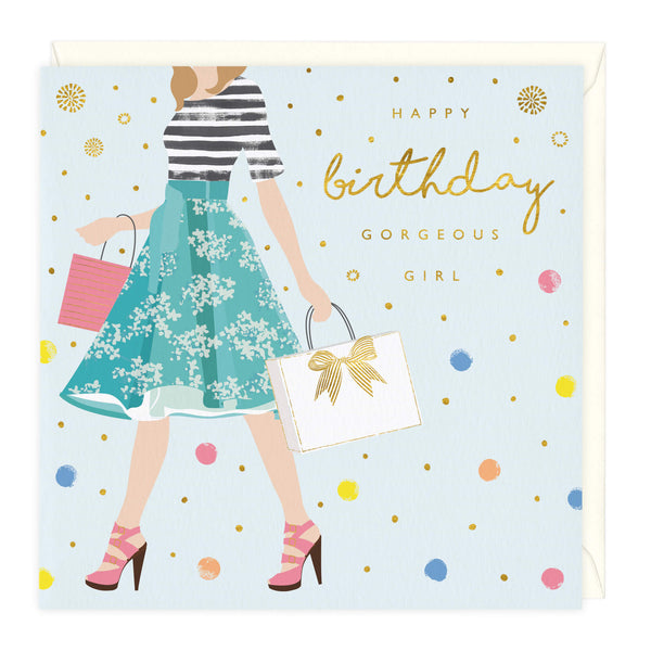 Gorgeous Girl Birthday Card