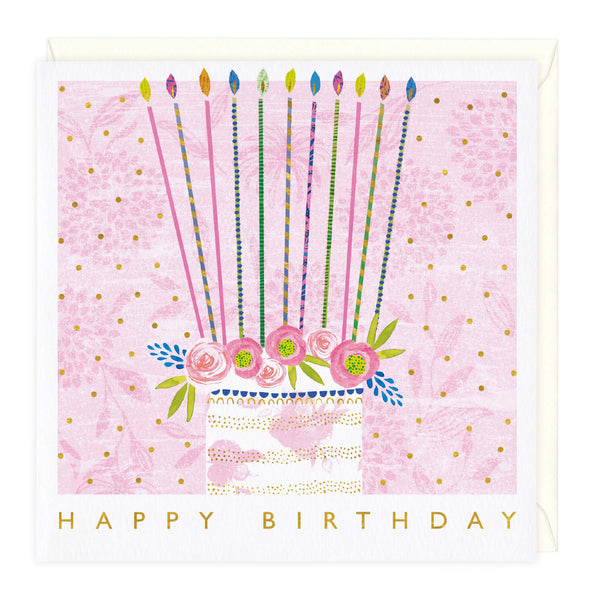 Long Candle Cake Birthday Card