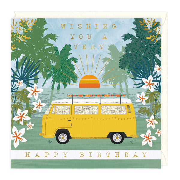 Happy Campervan Birthday Card
