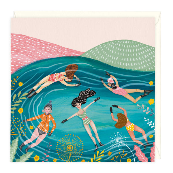 Outdoor Swimming Art Card