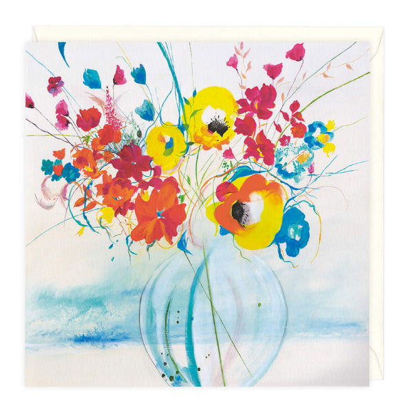A Vase Of Nasturtiums Art Card