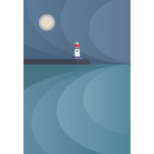 The Moon & the Guardian Large Art Print