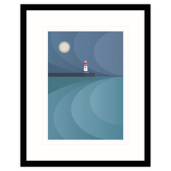 The Moon & The Guardian Framed Print