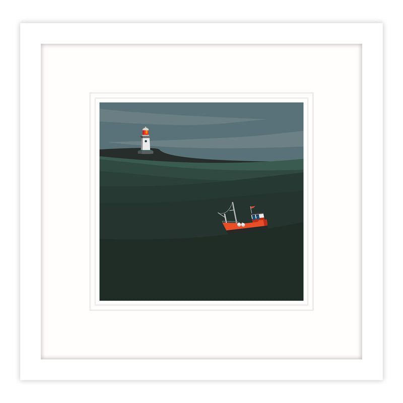 Working Boats IX Framed Print