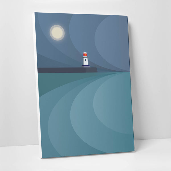 The Moon & the Guardian Canvas