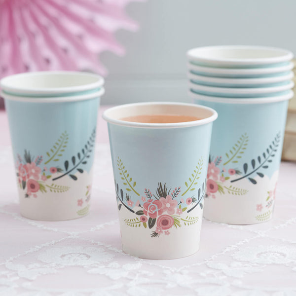 Floral Fancy Paper Cups
