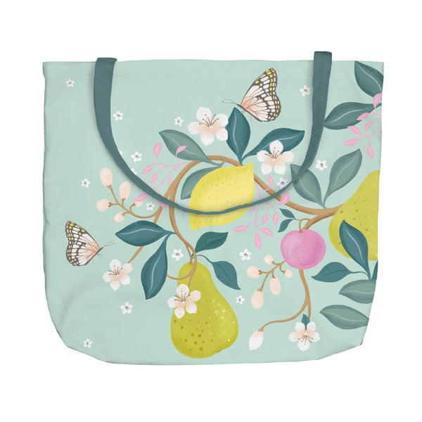 Summer Fruits Blue Tote Bag