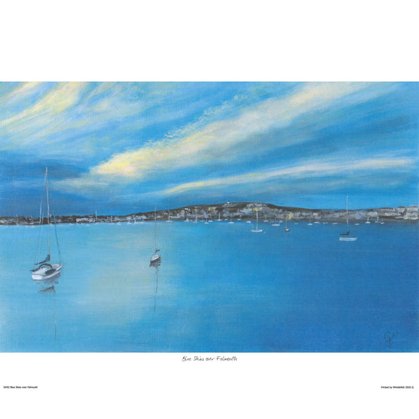 Blue Skies Over Falmouth Art Print