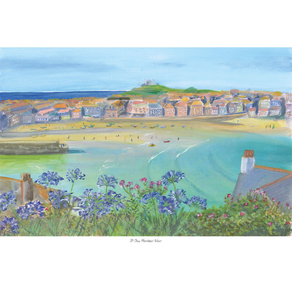 St Ives Harbour View Art Print
