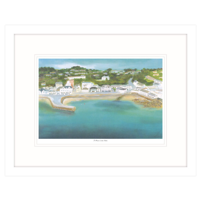 St Mawes From Above Framed Print