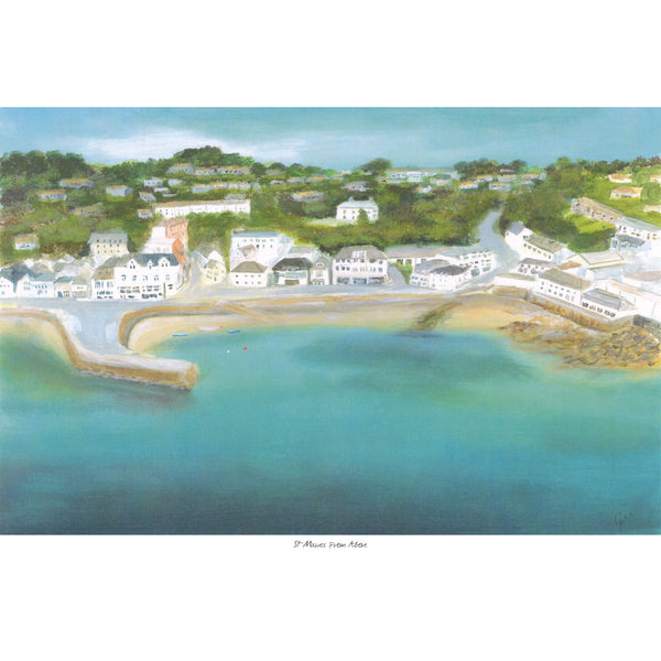St Mawes From Above Art Print