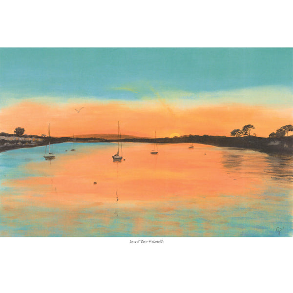 Sunset Over Falmouth Art Print