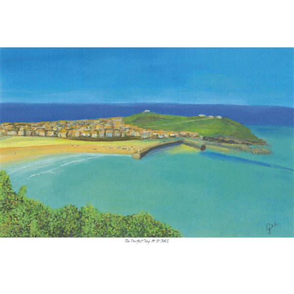 The Perfect Day at St Ives Art Print