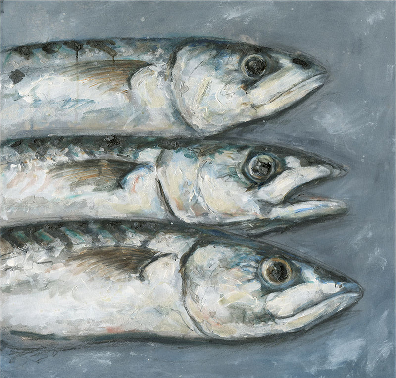 3 Mackerel Art Print Large