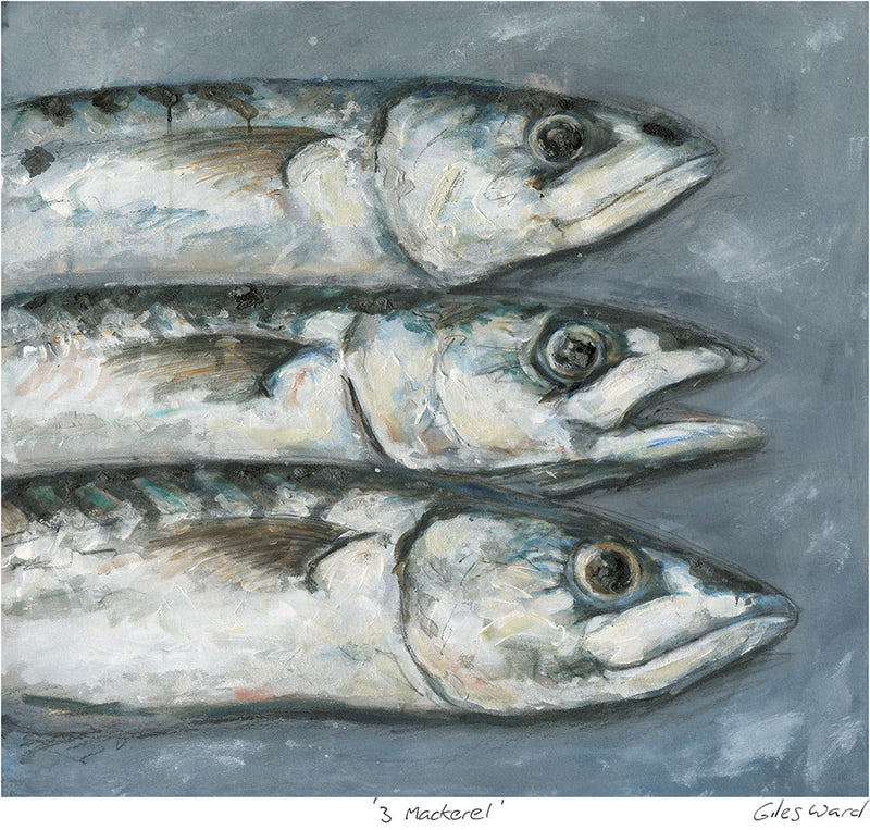 3 Mackerel Art Print
