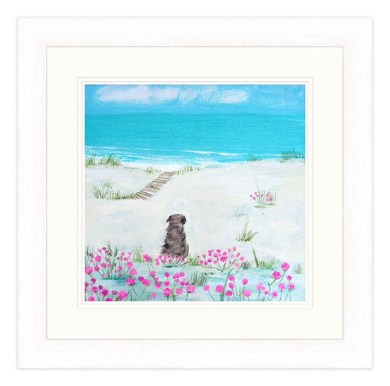 Sea Pinks Small Framed Print
