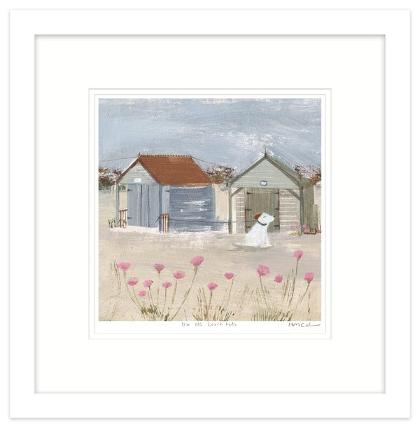 The Old Beach Huts 1 Framed