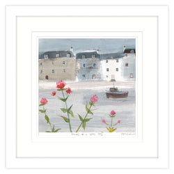 Flowers on a Grey Day Small Framed Print