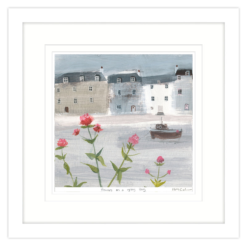 Flowers on a Grey Day Large Framed Print