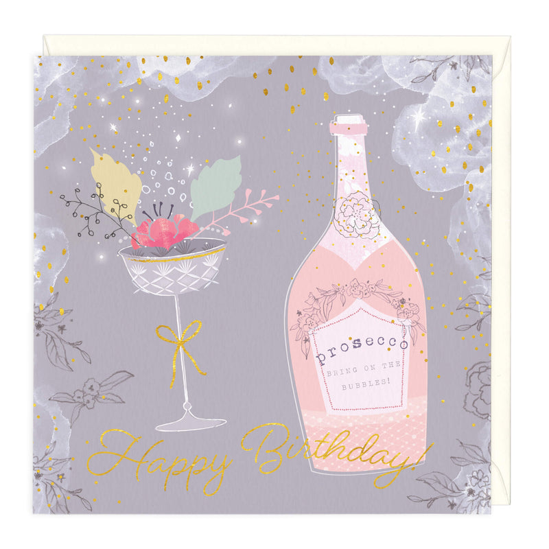 Happy Birthday Prosecco Card