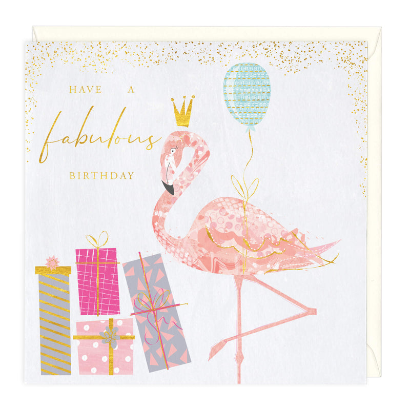 Have A Fabulous Birthday Flamingo Card
