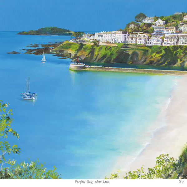 Perfect Day, West Looe Art Print