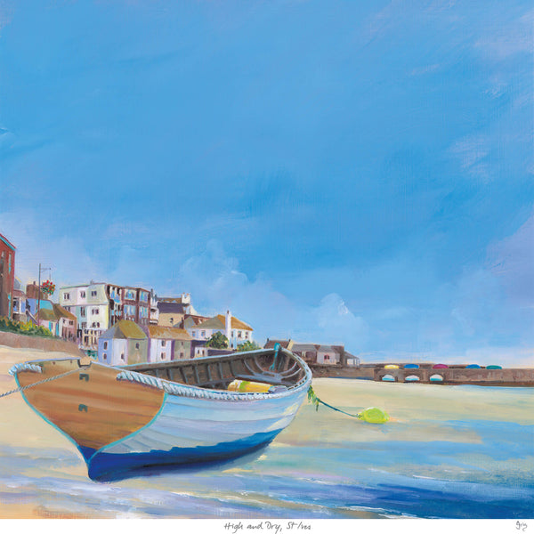 High and Dry St Ives Art Print