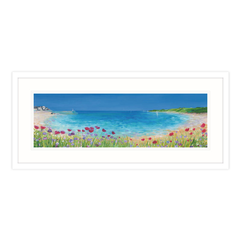 St Ives Summer Bouquet Framed Print