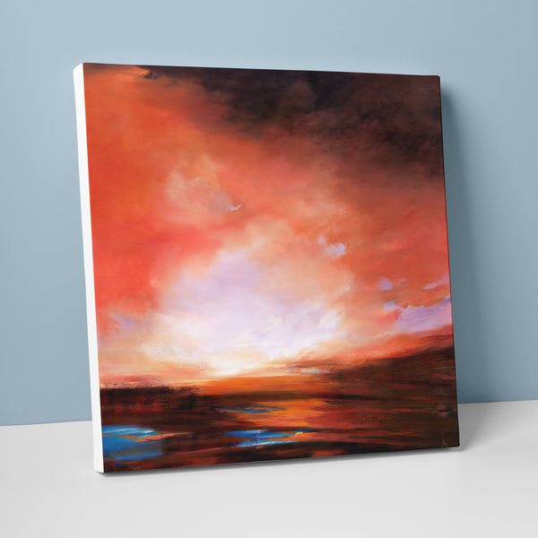 Burnt Orange Sunset Canvas