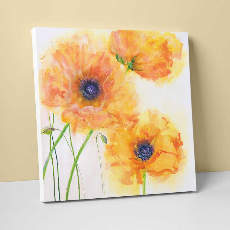 Burnt Orange Poppies Canvas