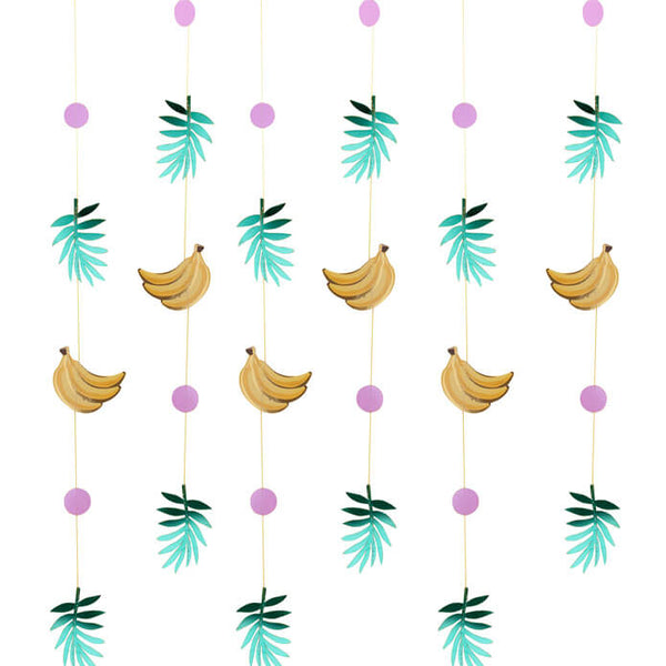 Gold Banana and Leaf Party Backdrop