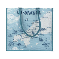 Cornwall Map Jute Bag