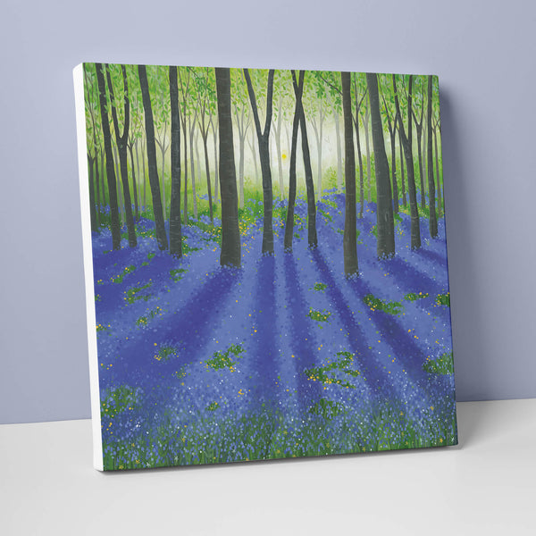 Bluebell Forest Canvas