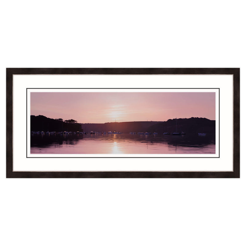 Sunrise over the Moorings, Loe Beach Framed Print